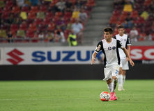 Ianis Hagi. F.C. Viitorul player Ianis Hagi, son of Gheorghe Hagi pictured during a match against Steaua Bucharest, at National Arena stadium, in Bucharest stock images