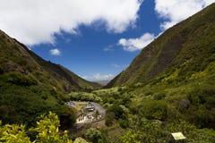 Iao针国家公园在毛伊, Wailuku 免版税库存照片