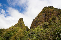 Iao针,在Iao谷,毛伊,夏威夷,美国 免版税库存图片