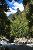 Iao Needle above stream, Maui Royalty Free Stock Photo