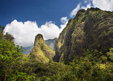 Iao Needle on Maui Stock Image
