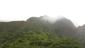 Iao valley mountains. Foggy  west maui mountain Royalty Free Stock Photography
