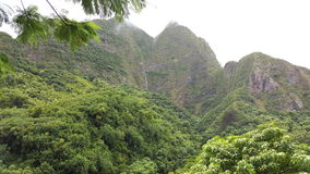 Iao valley mountains. Maui Hawaii iao valley park Royalty Free Stock Images