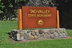 Iao Valley Sign Royalty Free Stock Images