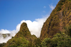 Iao visare, på den Iao dalen, Maui, Hawaii, USA Arkivbild