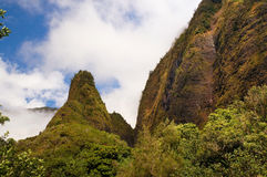Iao visare, på den Iao dalen, Maui, Hawaii, USA Arkivbilder