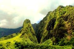 Iao-visare på Maui Royaltyfria Bilder