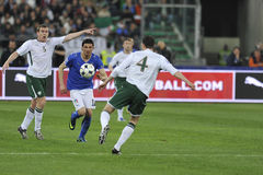 Iaquinta, O'Shea and Dunne soccer players Stock Image