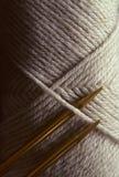 Iarda con gli aghi di lavoro a maglia Fotografia Stock Libera da Diritti