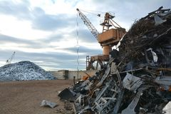 Iarda del residuo Immagine Stock