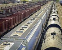 Iarda del treno Immagine Stock