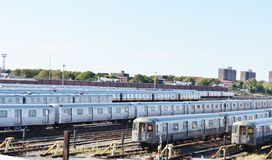 Iarda del treno di Coney Island Brooklyn di New York City Fotografia Stock Libera da Diritti