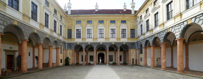 Iarda della corte di rinascita in Landshut Immagini Stock