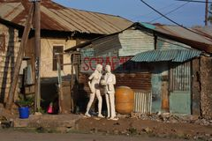 Iarda della ferraglia mombasa Fotografia Stock Libera da Diritti
