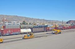 Iarda della ferrovia di Barstow Fotografie Stock