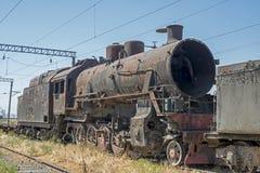 Iarda della tomba della locomotiva a vapore Immagini Stock Libere da Diritti