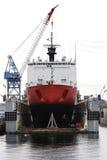 Iarda di blu marino e nave da carico Fotografia Stock Libera da Diritti