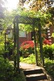 Iarda di fronte di una casa Immagine Stock Libera da Diritti