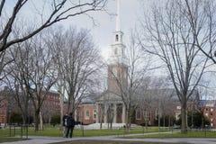 Iarda di Harvard e chiesa commemorativa Immagini Stock Libere da Diritti