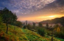Iarda di Petrin a Praga, repubblica Ceca Fotografia Stock