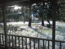 Iarda di Snowy Fotografia Stock Libera da Diritti