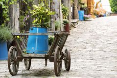 Iarda di vecchi periodi in Tihany al Balaton fotografie stock