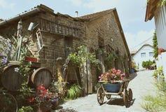 Iarda di vecchi periodi in Tihany al Balaton, Ungheria immagini stock