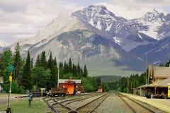 Iarda ferroviaria della montagna immagine stock libera da diritti