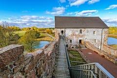 Iarda interna del castello di Kastelholm sulle isole di Aland in Finlandia Immagini Stock