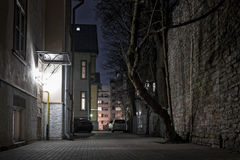 Iarda scura a Tallinn Fotografia Stock