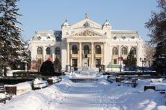 Iasi国家戏院(罗马尼亚) 免版税库存图片