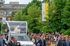 Iasi,罗马尼亚- 2019年5月:教皇方济各 免版税库存照片