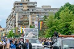 Iasi,罗马尼亚- 2019年5月:教皇方济各 免版税库存图片
