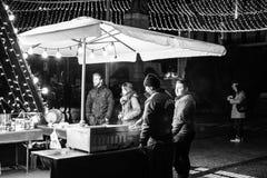 Iasi al aire libre 2017 de la Navidad del mercado Foto de archivo libre de regalías