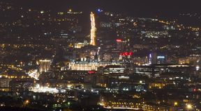 Iasi city at night Royalty Free Stock Photo