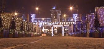 Iasi city at winter holidays Stock Photo