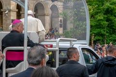 Iasi, Romênia - em maio de 2019: Papa Francisco imagem de stock royalty free