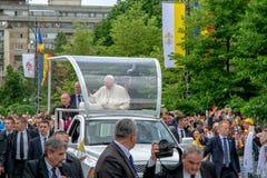 Iasi, Romênia - em maio de 2019: Papa Francisco fotos de stock royalty free