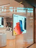 IPhone Mobile Phones and iPad Tablets For Sale in Apple Store. IASI, ROMANIA - MAY 05, 2019: iPhone Mobile Phones and iPad Tablets For Sale in Apple Store royalty free stock images