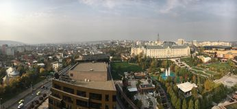 Iasi, Romania. Panoramic view of Iasi, Romania. On the right the Palas commercial complex with offices, hotel and shopping mall in Iasi, Romania stock photos