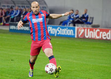 Iasmin Latovlevici with ball during Champions League game Royalty Free Stock Photography
