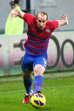 FC Steaua Bucharest- FC Gaz Metan Medias. Iasmin Latovlevici following the ball, during the football match, counting for the Romanian League One , between FC Stock Photography