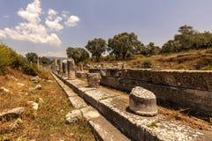 Iasos-Antiken-Stadt Milas die Türkei stockfotografie
