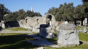 Iassos the ancient Greek city stock photography