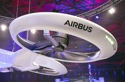Iat dell'elica del fuco di Airbus una mostra a Amsterdam immagini stock libere da diritti