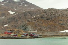 Iat velho das cabanas do ` s dos pescadores a costa Fotografia de Stock Royalty Free