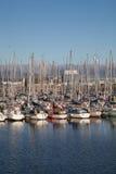 Iate ancorados no porto Imagens de Stock