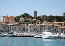 Iate Cannes portuária Imagem de Stock Royalty Free