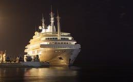Iate de Sultan Qaboos em Muttrah, Omã Imagem de Stock Royalty Free