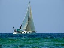 Iate do mar no verão foto de stock royalty free